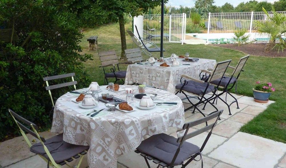 Petit déjeuner gourmand dans la location de chambre Puy du Fou Vendée