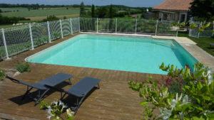 vue sur la campagne au calme pour cette location de chambre avec piscine proche du Puy du Fou Vendée
