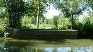 Barque pour les balades sur les canaux du marais poitevin