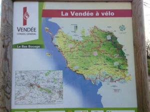 Plan du circuit la Vendée à vélo
